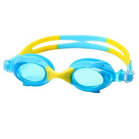 8bdf729fa20 Image Unavailable. Image not available for. Color  NewKelly Kids Swimming  Goggles Masks Childrens Kids Swim ...