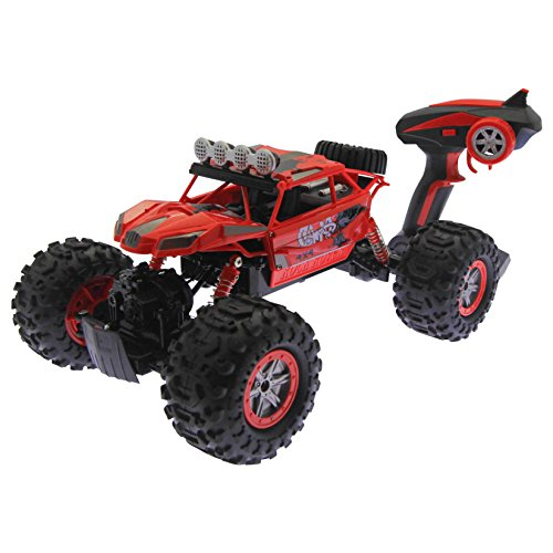Amphibious Land and Water Remote Control Offroad Stunt Car - Red