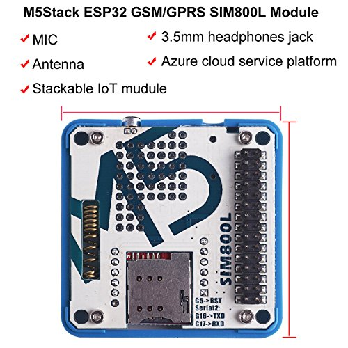 MakerFocus M5Stack ESP32 Development Board GSM/GPRS SIM800L