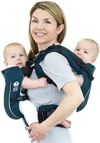6079414efe2 TwinGo Air Baby Carrier - Separates to 2 Single Carriers. Breathable Mesh