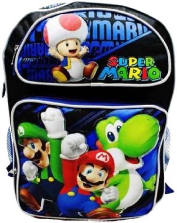 Super Mario Bros mochila – Cheer Up/azul | 16 in grande mochila escolar: Amazon.es: Oficina y papelería