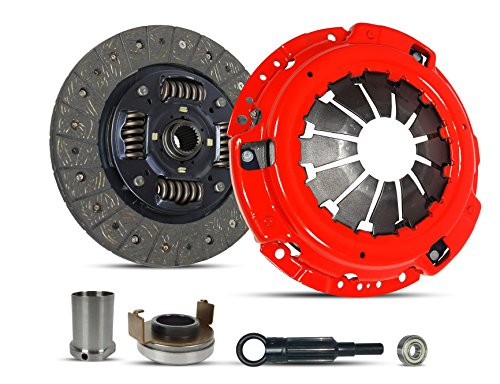 Clutch Kit And Sleeve Repair Works With Subaru Impreza Turbo Wrx Limited Premium Sedan Wagon Xt Tr 2006-2011 2.5L H4 GAS DOHC Turbocharged (Ej255; 5 Speed; Stage 1) ()