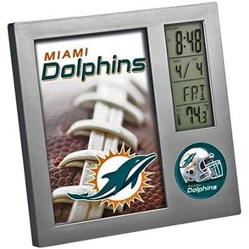 Miami Delfines Wincraft termómetro reloj de mesa: Amazon.es ...