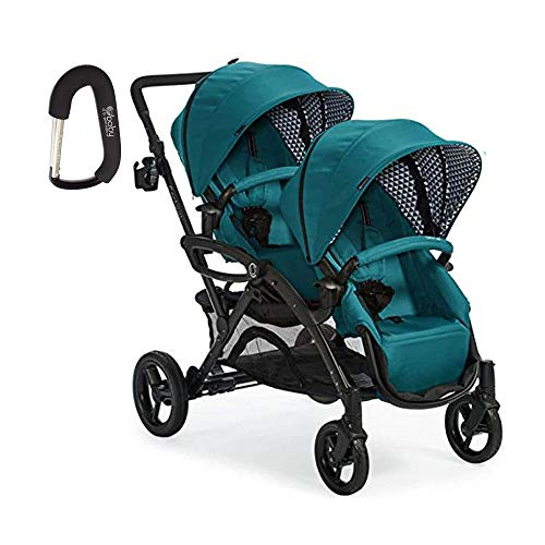 2018 Contours Option Elite Tandem Double Stroller Aruba with Free Baby Gear XPO Stroller Hook