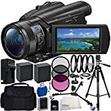 Sony FDR-AX700 4K Camcorder 12PC Accessory Bundle - Includes 2X Replacement Batteries + AC/DC Rapid Home & Travel Charger + More