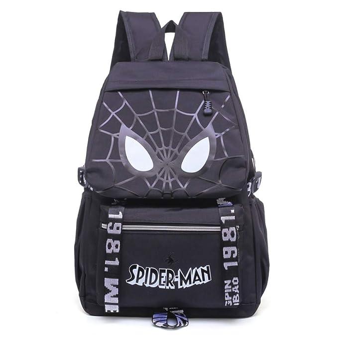 Spiderman Mochila Escolar Para Niños Adolescentes Ligeros Mochilas Para Niños Y Niñas Bolsas Escolares De 8-15 Años,Black-45 * 34 * 16cm: Amazon.es: Ropa y ...