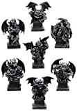 "This Seven Deadly Sins Allegorical Gargoyle Statue Set stands at about 8"" tall, 7"" long and 5"" deep approximately each. This Seven Deadly Sins Allegorical Gargoyle Statue Set is made of designer composite resin mixed with crushed stone, hand ..."