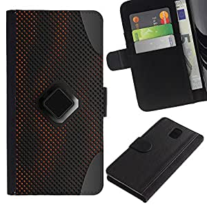 All Phone Most Case / Oferta Especial Cáscara Funda de cuero Monedero Cubierta de proteccion Caso / Wallet Case for Samsung Galaxy Note 3 III // Sci-Fi Pc Art Pattern Grey