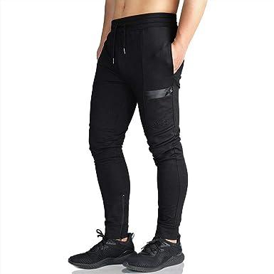 d876292fe8 EK Mens Sidelock Tracksuit Bottoms Gym Joggers Trousers Skinny Jogging  Pants Zipper Pockets