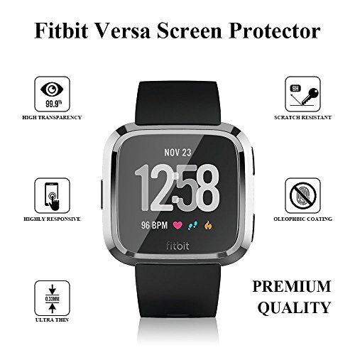 for Fitbit Versa Case, TPU Protective Case Fashion Color Frame Shock Resistant Proof and Shatter-Resistant Cover Protector Shell for Fitbit Versa Smart Watch -Silver