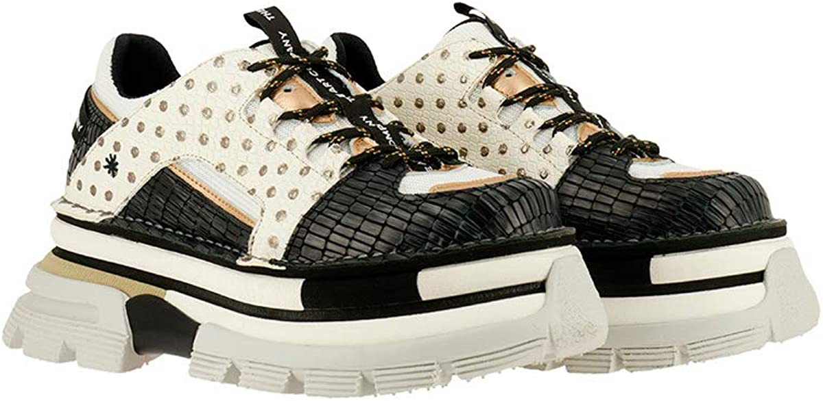 Art Company 1640S Multi Leather Gold Mix//Art Core 2 Femme Chaussures Lacets