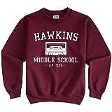 Hawkins Middle School AV Club Sweatshirt - Stranger Things Inspired Sweater (Medium, Maroon)