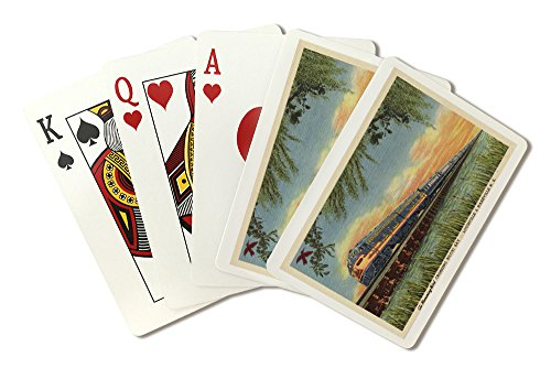 - Biloxi Bay, Mississippi - The Humming Bird Railroad Train (Playing Card Deck - 52 Card Poker Size with Jokers)