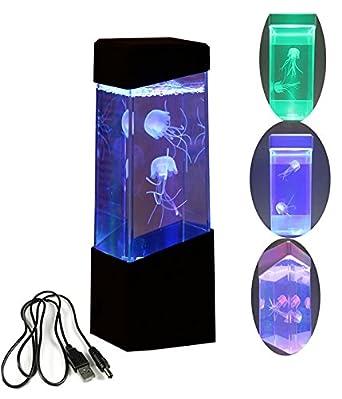 CALOVER Jellyfish Lamp Electric Jellyfish Tank Aquarium Color Changing Mood  Lamp For Home Decoration Magic