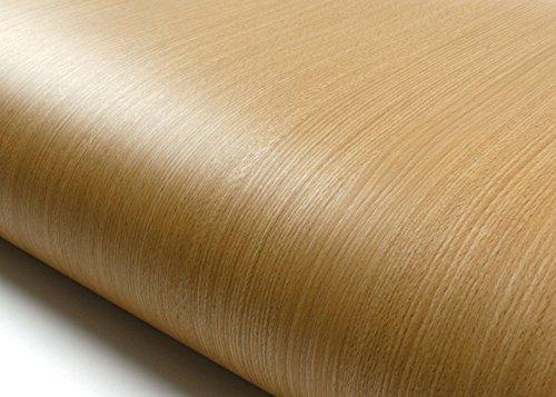 ROSEROSA Peel & Stick Premium Wood Backsplash Beech Wood Pattern Self-Adhesive Wallpaper Shelf Liner Table and Door Reform (KW051N : 2.00 Feet X 6.56 Feet) ()