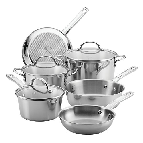 Ayesha Curry Home Collection Stainless Steel Cookware Set, 9-Piece by Ayesha Curry