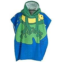Trespass Childrens/Kids Hermit Frog Design Poncho Towel (One Size) (Multi)