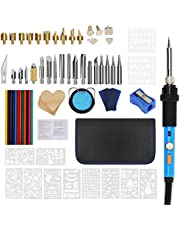 77PCS Wood Burning Kit, BicycleStore 60W Woodburning Tools with Adjustable Temperature Rapid Heating Pyrography Pen Set Wood Burner Soldering Pen DIY Creative Tools for Embossing Carving Soldering