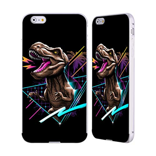 Official Vincent Trinidad T-Rex Radical Graphics Silver Aluminum Bumper Slider Case Compatible for iPhone 6 Plus/iPhone 6s Plus ()