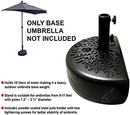 Amazon Com Easygo Half Umbrella Base Weight Water Weighted