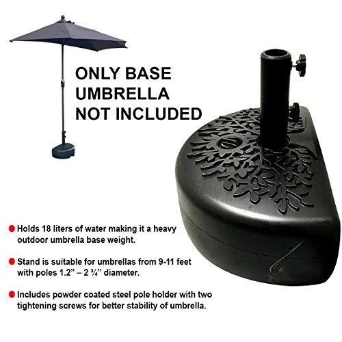 EasyGo Half Umbrella Base Weight - Water Weighted Universal Stand