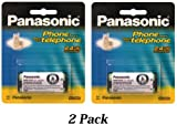 Panasonic Original Ni-MH Rechargeable Batteries (2 Pack) for the Panasonic KX-TG5431S, KX-TG5432M, KX-TG5433M, KX-TG5438 and KX-TG5439 Digital Cordless Phone System, Office Central