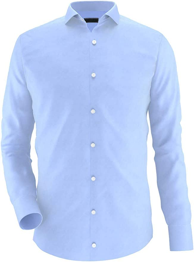 Noldemann - Camisa de Vestir de Alto Rendimiento Azul Claro: Amazon.es: Ropa y accesorios