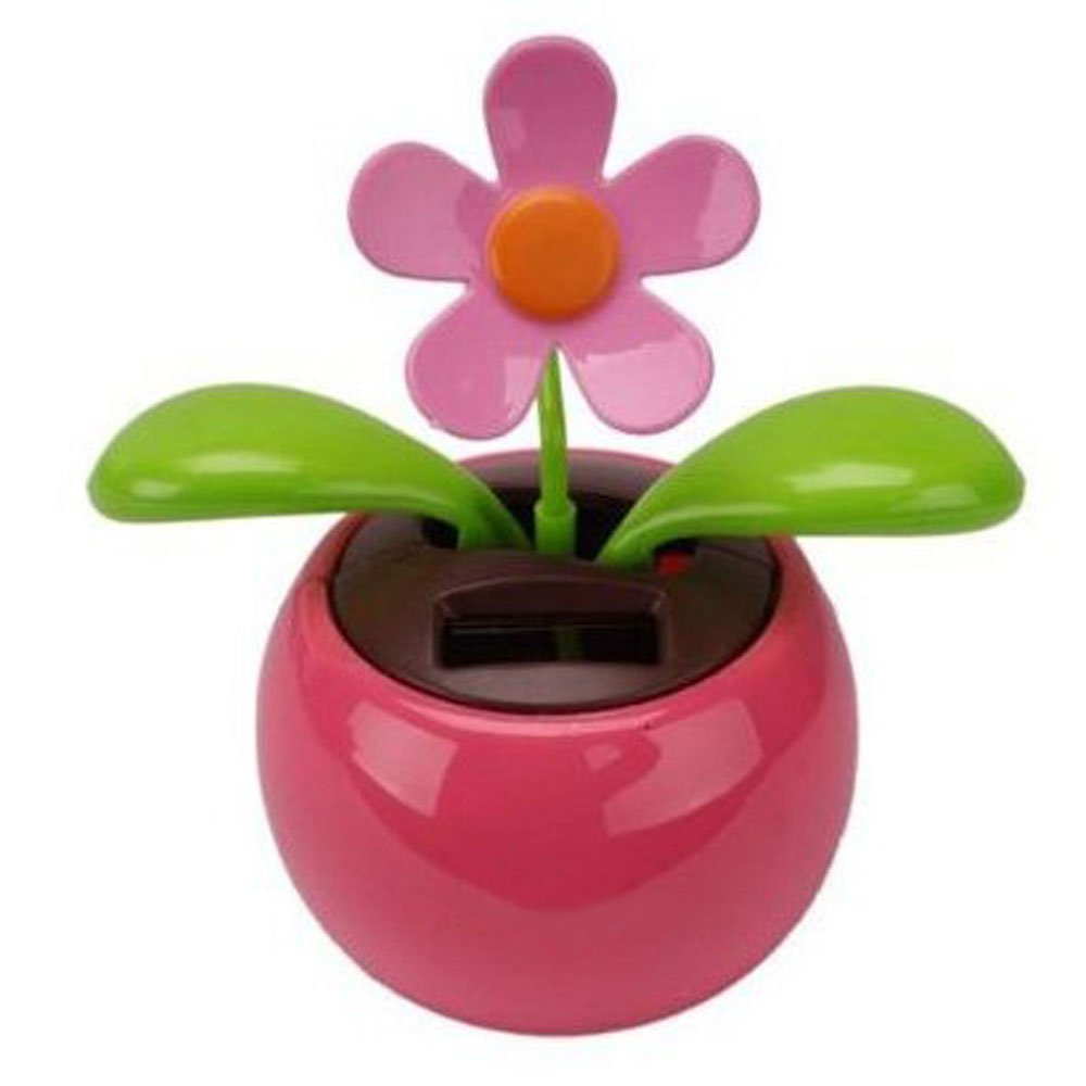 Amazon Car Rose Red Cute Flip Flap Swing Solar Flower Toys Games