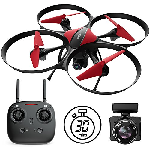 Force1 U49C Drone with Camera for Beginners – HD Beginner Drone Quadcopter w/ Altitude Hold, 15-min Long Flight Time & Extra Battery - 720P RC Camera Drones for Kids and Adults (Best Gift For 35 Year Old Man)
