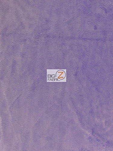 "Dark Purple 58/""//60/"" WIDTH SMOOTH MINKY SOLD BY THE YARD SOLID MINKY FABRIC"