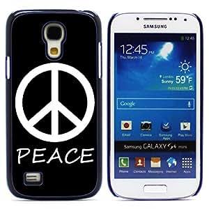 Graphic4You Peace Sign Design Hard Case Cover for Samsung Galaxy S4 Mini (Black)