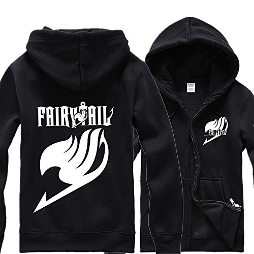 Windowpane Anime Fashion Logo Long Sleeve Jacket Fairy Tail BlackXL