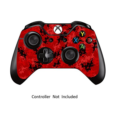 Skins Stickers for Xbox One Games Controller – Custom Orginal Xbox 1 Remote Controller Wired Wireless Protective Decals Covers – High Gloss Protector Accessories – Digicamo Red For Sale