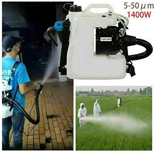 ポータブルULV電気噴霧器、12L容量、噴霧距離8〜12メートル、屋内屋外ガーデン用アイデア、パティオ、220V 1400W