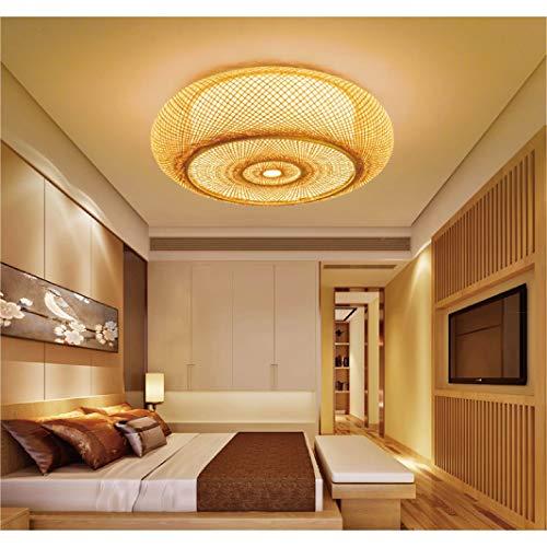 Vintage hanglamp Natuurlijke bamboe hanglamp Creatieve handgemaakte hanglamp E27 * 4 plafondlamp eetkamer slaapkamer…