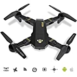 LOHOME Foldable RC Drone - 2.4GHz 6-Axis Gyro Wifi FPV Quadcopter Remote Control Drone with 120° Wide Angle 720P HD 2MP Camera Gravity Sensor Helicopter