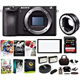 Sony Alpha a6500 Digital Camera + Sigma MC-11 Mount Converter (Canon SGV Lenses for Sony E) 64GB Bundle