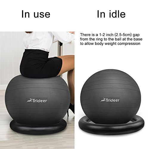 Buy 75cm Exercise Ball: Trideer 75cm Exercise Ball Chair, Stability Ball With Ring