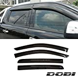 VioletLisa 4pcs Smoke Tint Out-Channel Reinforced Acrylic Sun Rain Guard Vent Shade Window Visors For 12-16 Ford Ranger Crew Cab Pickup