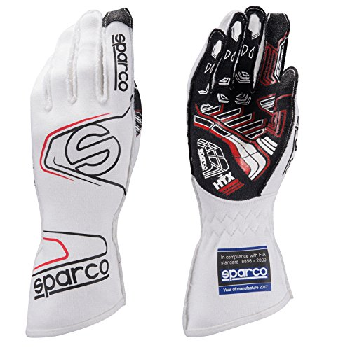 Sparco Men's Glove (Arrow RG-7) (White, Large) -