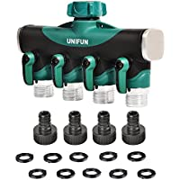 UNIFUN Hose 4 Way Water Splitter