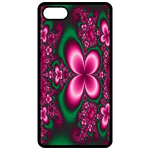 Butterfly Garden Image Black Apple Iphone 4 - Iphone 4s Cell Phone Case - Cover
