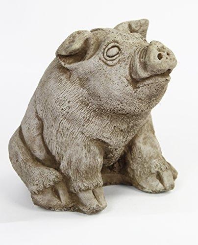 Fleur de Lis Garden Ornaments LLC Sitting Pig Concrete (Concrete Animal)