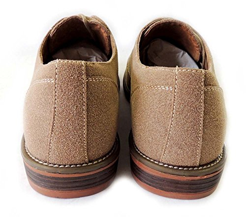 NEW CHUKKA FAUX DRESSY LINED LACE SUEDE BROWN320 RUBBER SHOES LEATHER SOLE MENS UP M139002 rzxBrg