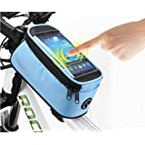 Roswheel 2014 New Updated Cycling Bicycle Bike Front Tube Top Tube Smartphone Bag Frame Pannier Phone Holder for iPhone Samsung HTC Nokia Sony LG and other Smartphones (Blue, M-4.8'') by Roswheel