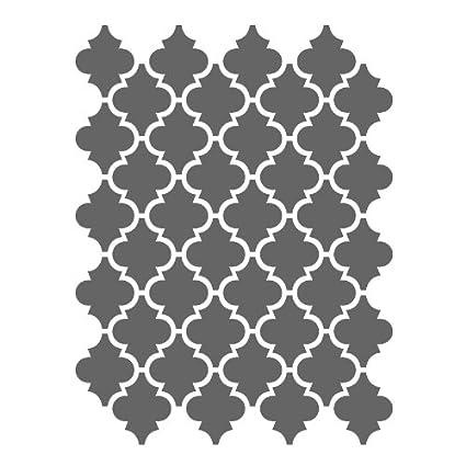 Amazon.com: J BOUTIQUE STENCILS Moroccan Stencils Template -small ...
