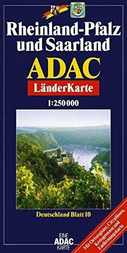 ADAC Karte, Rheinland-Pfalz (ADAC BundesländerKarten Deutschland) Landkarte – Januar 2002 ADAC Verlag GmbH 3826412168 MAK_9783826412165 Stadtpläne
