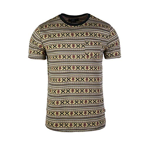 Beautiful Giant Men's Basic Comfortable Graphic Pocket T-Shirt (Brown/Yellow, XL)