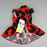 Fitwarm Adorable Sweat Heart Ribbon Pet Dog Dress