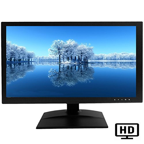 Av Input Camera Video - 101AV 18.5 HD LED Security Monitor HDMI VGA & BNC Input Build in Speaker Wide Screen Audio Video Display Computer PC Monitor for CCTV DVR Home Office Surveillance Optional Mount(2D Comb Filter)